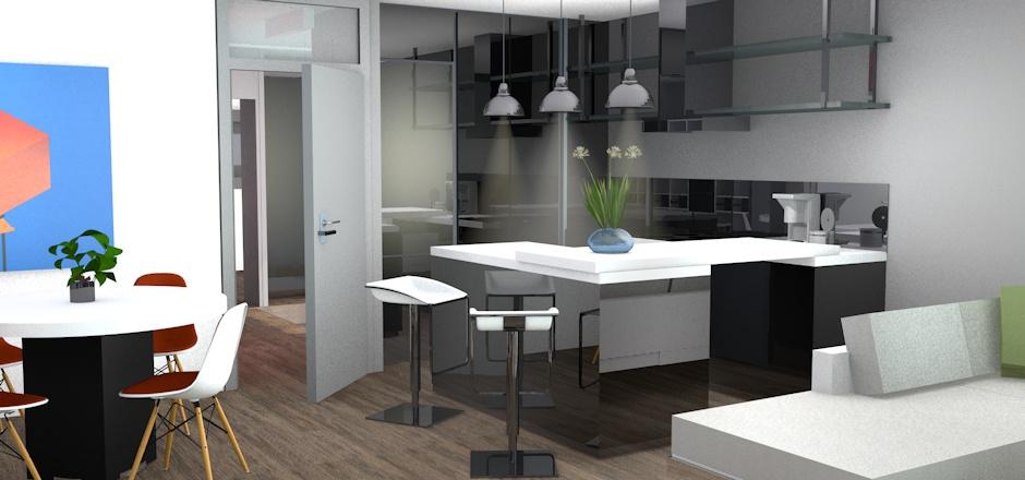 Mod lisation 3d quinconce for Modelisation cuisine 3d