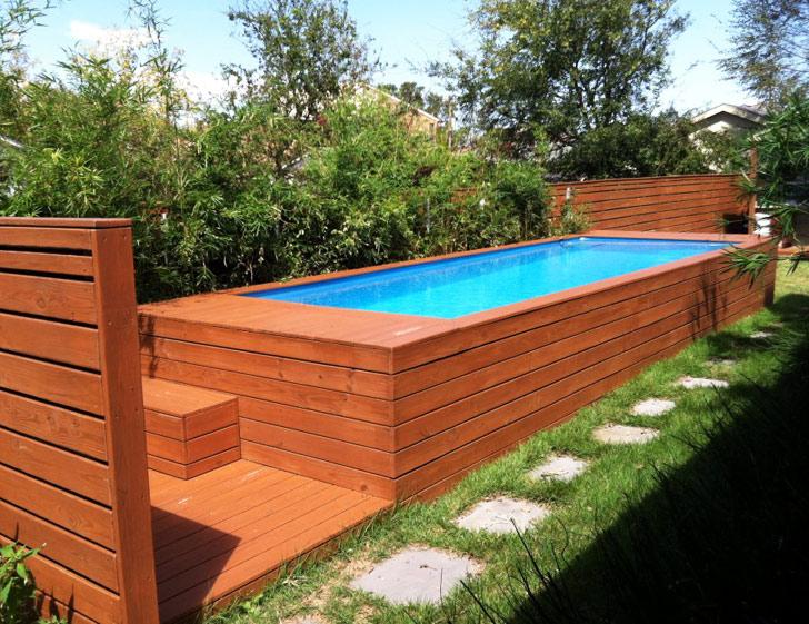 piscine en container quinconce. Black Bedroom Furniture Sets. Home Design Ideas
