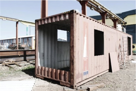 maison container construction